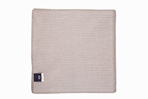 g Cloths Dusters - Pure 100% Linen - 4-Pack 10.6inch x 10.6inch Gray Organic Flax Small Antibacterial Towel by Thingstore ()