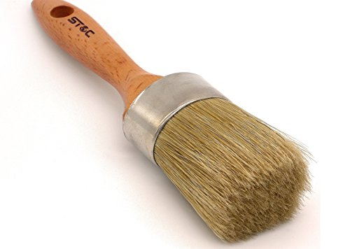 SToC Pure Bristle 2 Inch Round Chalk Paint Brush Wax Brushes for Painting by SToC