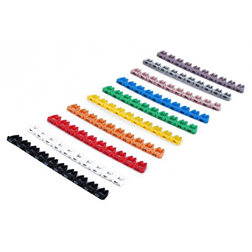 Plastic Cable Markers Wire Cord Management Bar 10 Pcs Multicolor