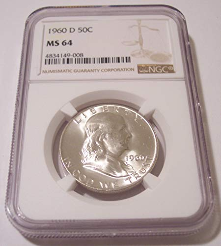 1960 D Franklin Half Dollar MS64 NGC