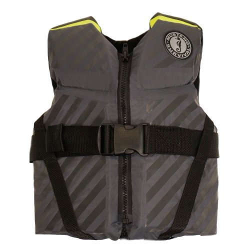 (Mustang Survival Lil' Legends 70 Flotation Vest, Gray/Fluorescent Yellow Green,)