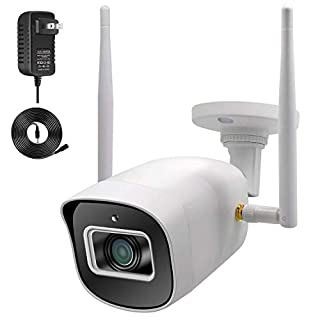 5MP Outdoor Security Camera with Power Supply, Nesuniq Wireless WiFi Home Surveillance Outside Waterproof Camhi Camera Night Vision, IP Cam, Remote Access, Card Slot, Power Extension Cable
