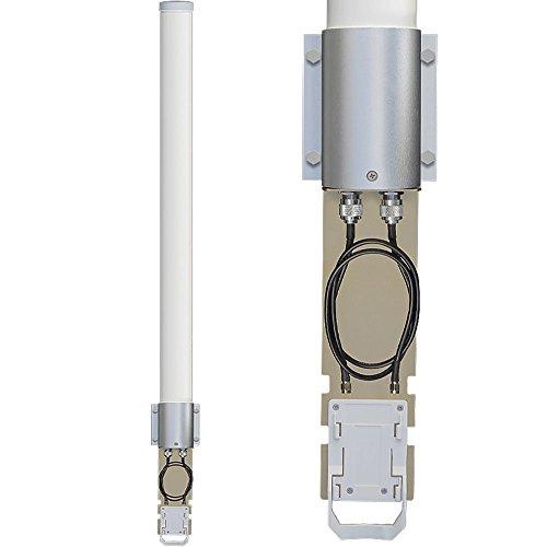 Altelix 2.4 GHz 15 dBi WiFi 2-Port MIMO Omni Antenna Kit for Ubiquiti RocketM2 & MikroTik BaseBox2 by Altelix