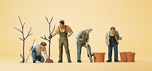 Preiser 10466 People Working Men Planting Trees HO Scale Figure