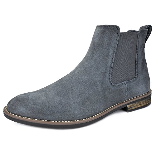 (Bruno Marc Men's Urban-06 Grey Suede Leather Chukka Ankle Boots - 13 M US)