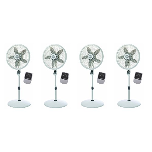 Lasko 18 Inch Elegance Performance Oscillating Pedestal Fan w/Remote (4 Pack)