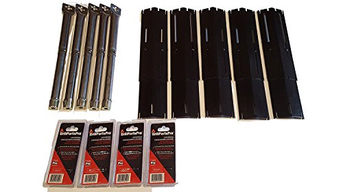 Set of Brinkmann Replacement Stainless Steel Grill Burners, Heat Plates and Crossover tubes for Brinkmann Grill (Brinkmann Replacement)