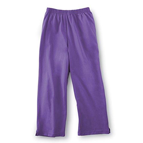 t Comfortable Cropped Capri Pants, Purple, Xxx Large ()