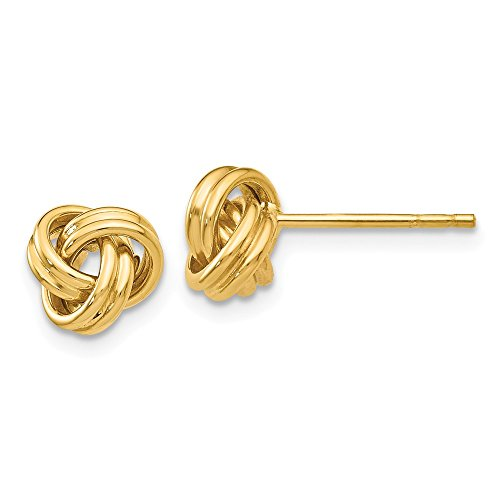 Mia Diamonds 14k Yellow Gold Love Knot Post Earrings