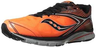 Saucony Men's Kinvara 4 GTX Running Shoe,Black/Vizipro Orange,10 M US