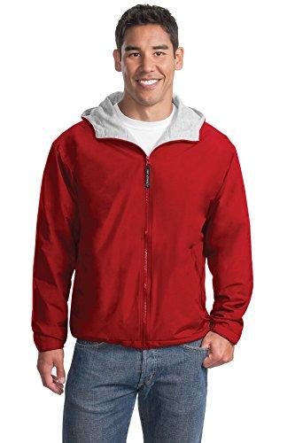 Port Authority Men's Team Jacket XL Red/Light - Jacket Oxford Nylon