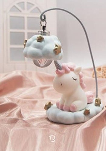 Gold Happy Home Decor Light Cartoon Unicorn LED Night Light Anime Studio Rhinoceros Unicornis Lighting Switch Battery Monocerus Lamp