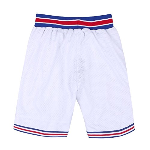 AFLGO Basketball Short Space for Jerseys S-XXL (White, XL)