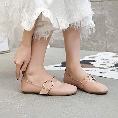 shoes comfortable pregnant fashion flat work shoes bottom shallow shoes Soft A FLYRCX ladies women mouth PCx0vBq8