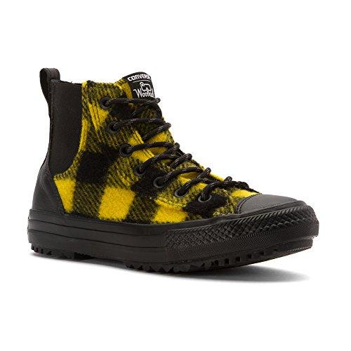 Converse Womens Boots (Converse x Woolrich CTAS Chelsee Womens Boot (8.0 B(M) US Womens, Black/Bitter Lemon/Black))