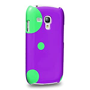 Case88 Premium Designs Art Collections Hand Drawing Purple Ladybug Pattern Protective Snap-on Hard Back Case Cover for Samsung Galaxy S3 mini (Not Normal S3 !)