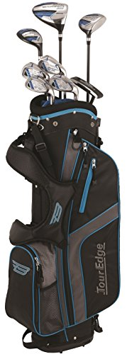 Tour Edge Male Bazooka 360 Varsity Box 2x6 Set (Men's, Left Hand, Graphite, Uniflex, Varsity Set), Black/Blue, Varsity Set