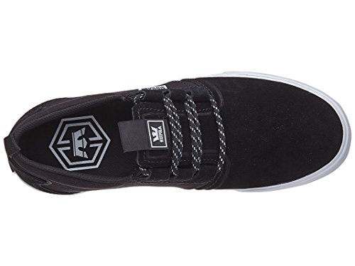 Gum Supra Black Shoe Mens Black Grey Flow White Dark Grey Skate XX8rg