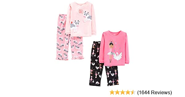 Carters Baby Girls 12M-14 2 Piece Ballerina Fleece Pajama Set