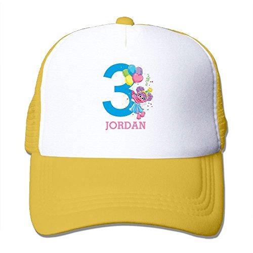Price comparison product image AKQQ0XXA Custom Geek Unisex Birthday Toddler Trucker Hats Yellow