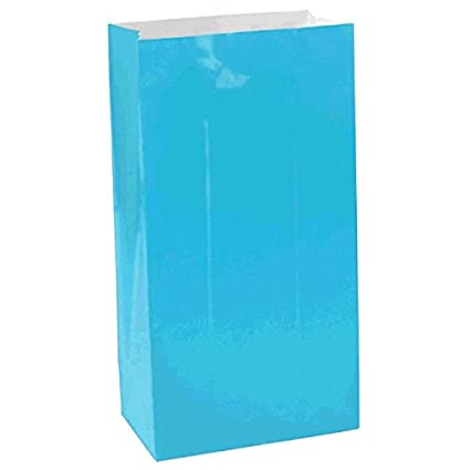 Pack of 12 Large Packaged Party Paper Favour and Giveaway Bags,10 x 5 x 3 10 x 5 x 3 Amscan 376000.04