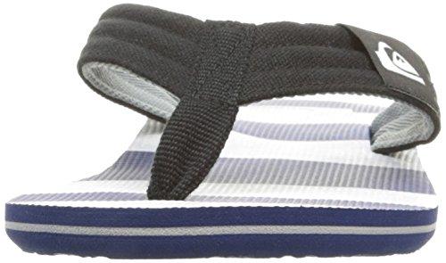 Quiksilver Sandal White Stripes Blue Molokai Men's Strap Layback 7zr7qw