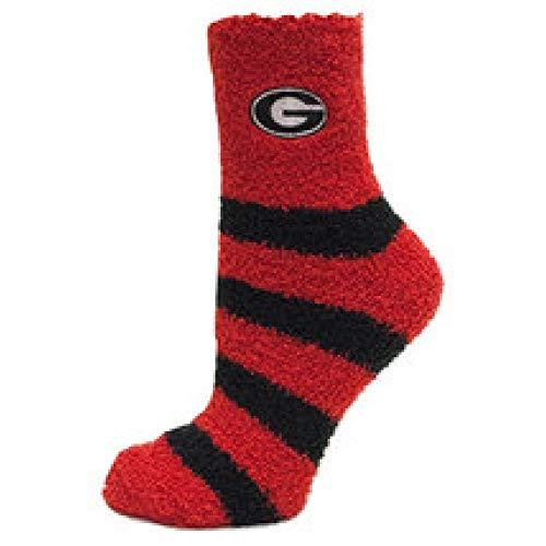 Donegal Bay Georgia Bulldogs Striped Fuzzy Socks-One Size