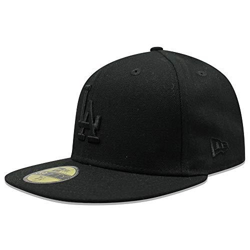 - New Era 59Fifty Hat MLB Basic Los Angeles Dodgers LA Black Fitted Cap (7 5/8)