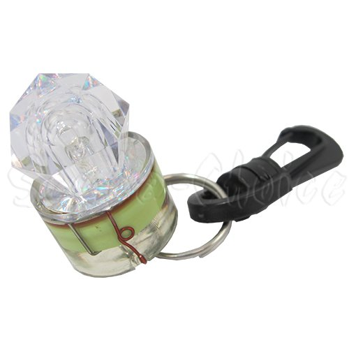Scuba Choice Diamond Shape Water Activated Mini Safety LED Flash Light with Clip, White