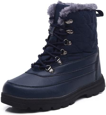 Lined Calf Resistant Mid Snow Boots Ankle Anti Warm Water Booties Fur Slip Boots Outdoor aeepd Winter xBoedC