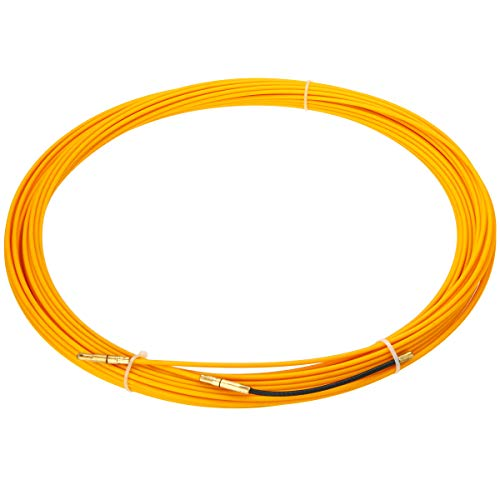 Ants-Store - New 30M/3mm Fiberglass Electrician Conduit Ducting Cable Push Pullers Duct Snake Rodder Fish Tape Wire ()