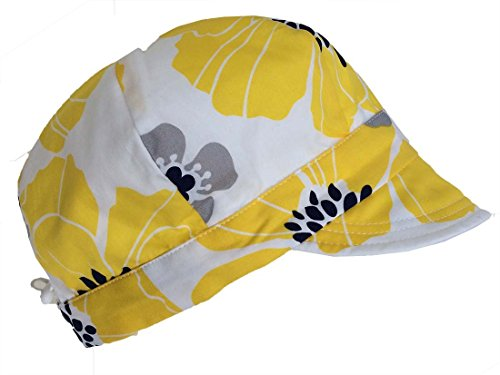 baby-newsboy-cap-for-spring-summer-fall-adjustable-50-upf-sun-hats-0-9m-yellow-flower