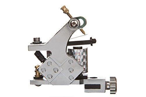 1TattooWorld Premium Copper Wire Coils Tattoo Machine Liner & Shader, Silver, OTW-M048-3