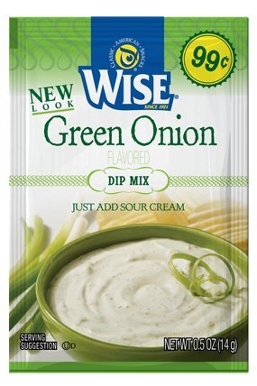 Wise Green Onion Dip Mix Packet 12 Pack by Wise