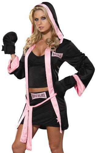 Dreamgirl Women's Boxer Girl (Girl Boxer Fancy Dress Costumes)