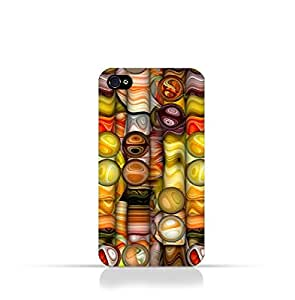 Iphone 4 / Iphone 4s TPU Silicone Case With Abstract Bubble Background