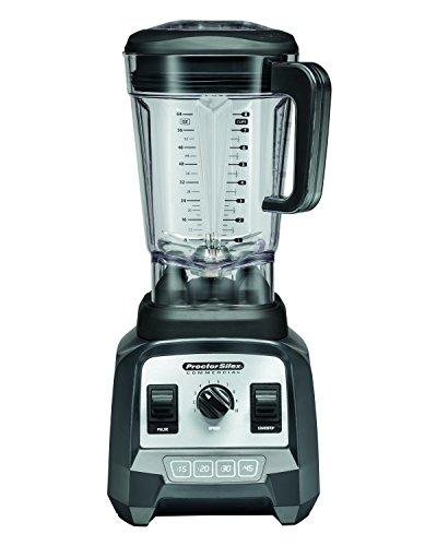Proctor Silex Commercial 55000 High-Performance Blender, 2.4 Peak hp, Variable Speed Dial, BPA-Free 64 oz. 1.8 L Container, 17.32 Height, 7.6 Width, 8.69 Length, Black