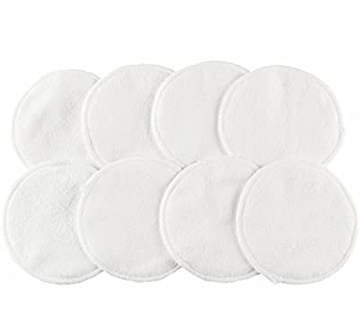 Wegreeco Reusable Bamboo Breastfeeding Pads - Super Absorbent Washable Nursing Pads - Pack of 8pcs