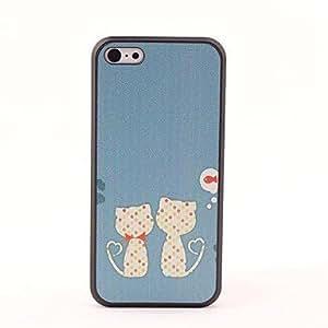 MOFY- gato en la caja trasera protectora estilo amor por 5c iphone