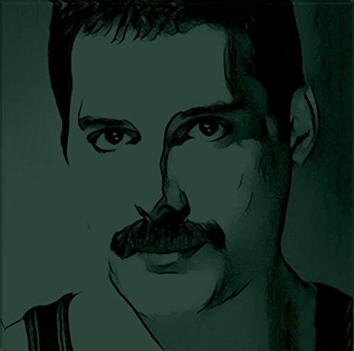 Startonight Canvas Wall Art Black and White Abstract Freddie Mercury Celebrity Prisma