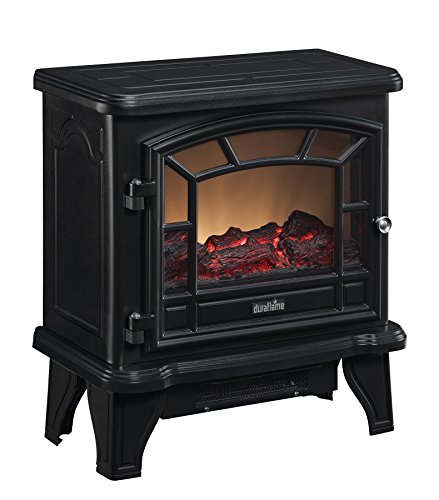 Duraflame DFS-550-21-BLK Maxwell Electric Stove with Heater, Black (Fireplace Stove Electric)
