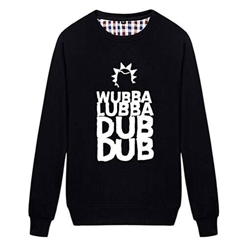 Fe Rret Unisex Wubba Lubba Dub Dub Crazy Humor Sweatshirt (Black -