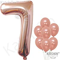 Rose Gold Foil Number Balloons Parent Listing Toys Games