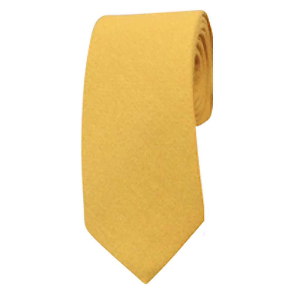 DB Dickie Bow Corbata delgada de algodón amarillo mostaza: Amazon ...