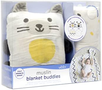 Ubbi Baby Blankie 2 In 1 Convertible Baby Muslin Swaddle Blanket Lovey Baby Blanket Perfect Addition To Baby Layette For New Mum Dog Cat Pack Of 2 Amazon Co Uk Baby