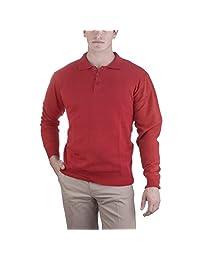 Alberto Cardinali Men's Solid Color Three-Button Sweater