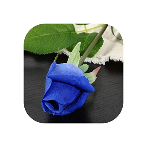 10Pcs 11Pcs/Lot Silk Rose Artificial Flowers Real Touch Rose Flowers for New Year Home Wedding Decoration Party Birthday Gift,C Blue 3,10Pcs]()