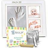 stand up shower ideas Your Baby's Handprint Footprint Memory Kit - Engraved Version! Premium Quality Clay Mold & Picture Frame Keepsake Kit, Unique Baby Shower Gift