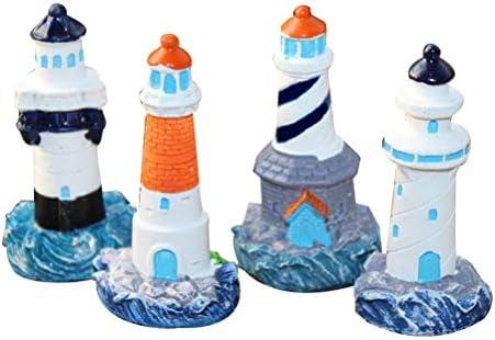 YeahiBaby 4 Stücke Mini Leuchtturm Deko Maritime Dekoration Fee ...