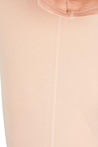 ALBERT KREUZ camiseta interior invisible para mujer, de manga corta y cuello redondo extra-profundo y amplio, color piel